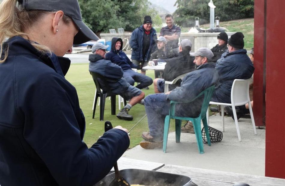 Christchurch's Liz Inglis prepares a feast.