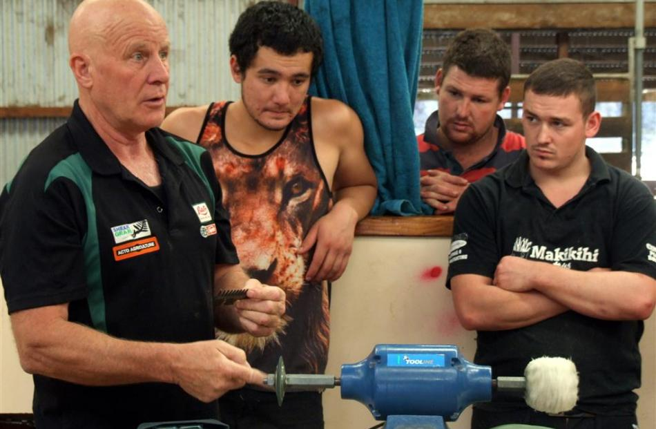 Tom Wilson outlines preparation of shearing gear.
