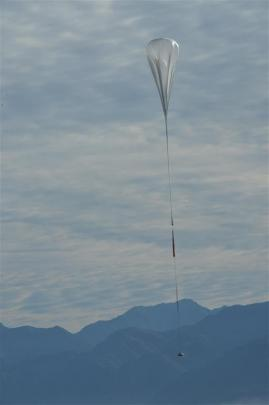 The first Nasa super-pressure balloon is launched in  Wanaka on March 31 last year. Photo by...