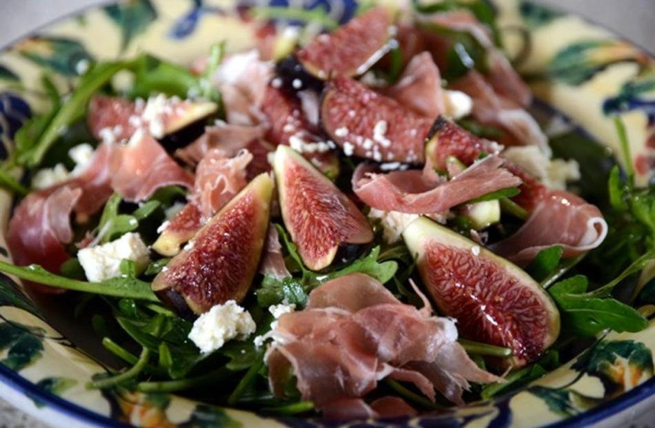 Fig, prosciutto, rocket and goat's cheese. Photo: supplied