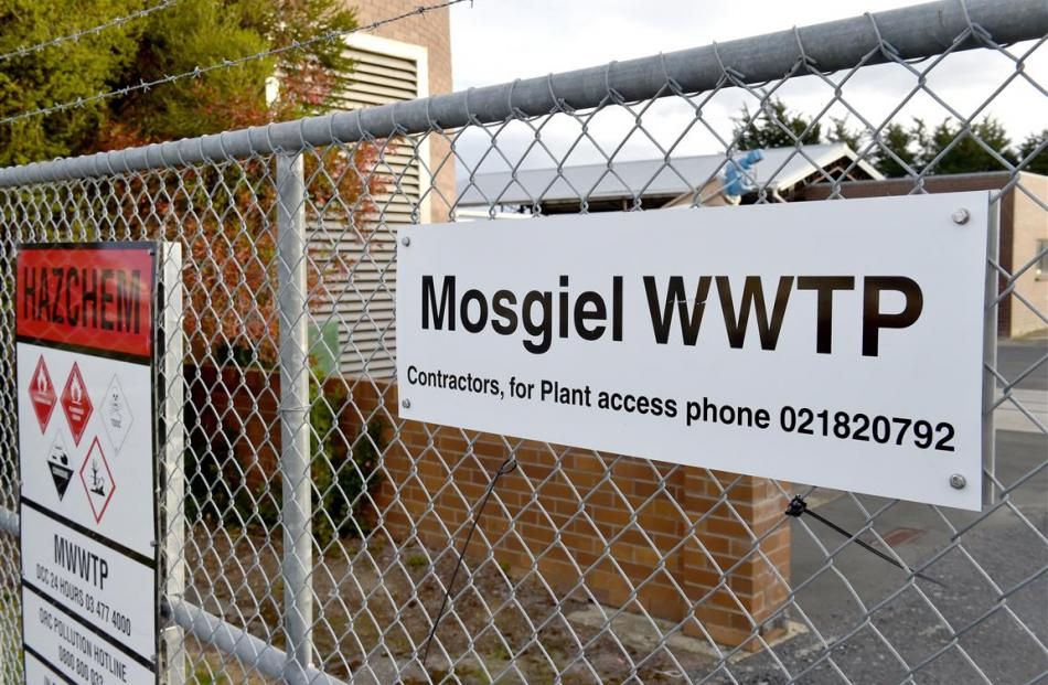 The gates of the Mosgiel wastewater treatment plant.  Photo: Gregor Richardson