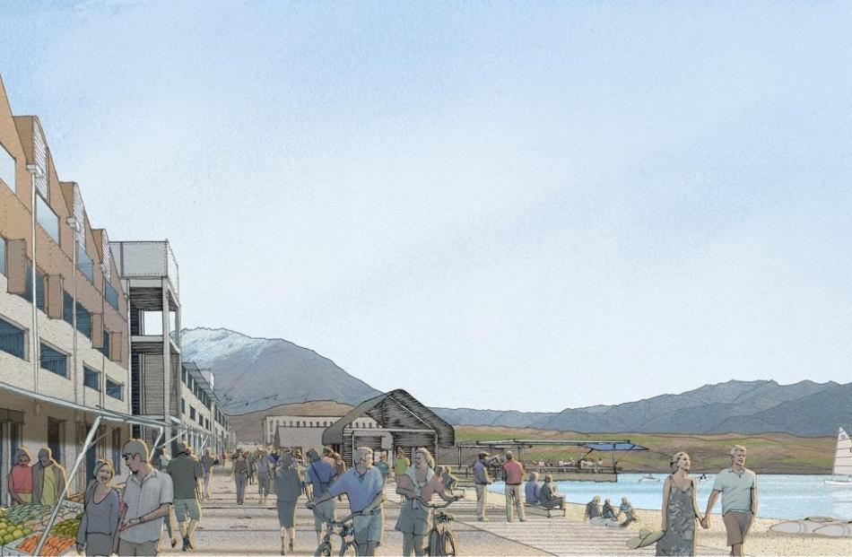 Adding life ... An artist's impression of the planned village.