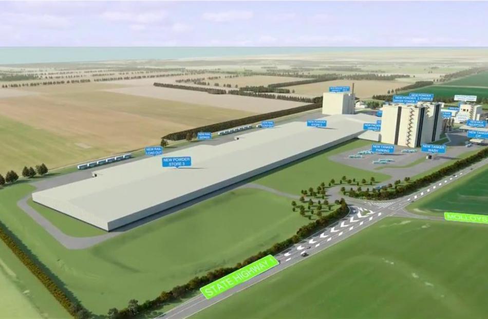 Fonterra's proposed expansion at its Studholme plant.