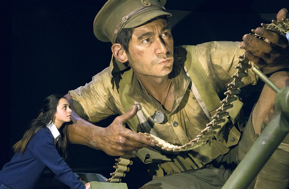 One of the Weta Workshop figures in the Te Papa ''Gallipoli: The Scale of our War'' exhibition in...