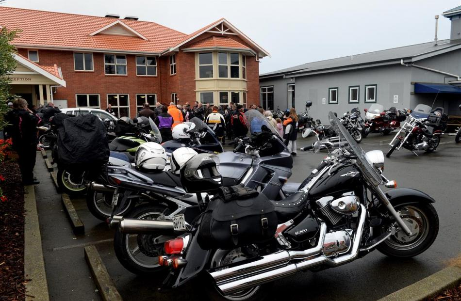 Gleaming motorcycles are lined up at Montecillo.