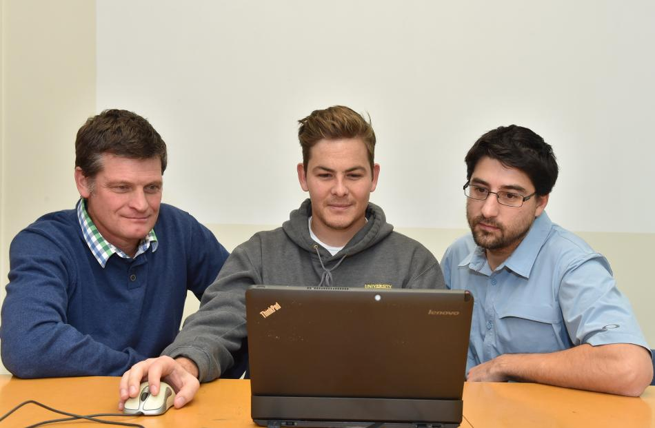 From left: Richard Hemi, Chris Page and Dr Pascal Sirguey are helping the public to get...