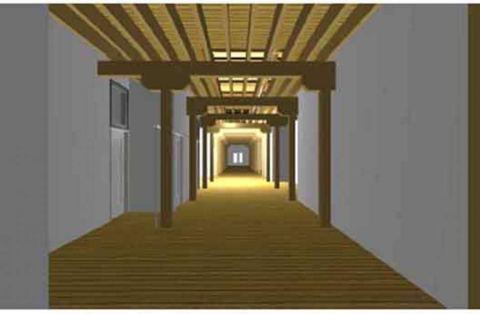 Mid level corridor area.