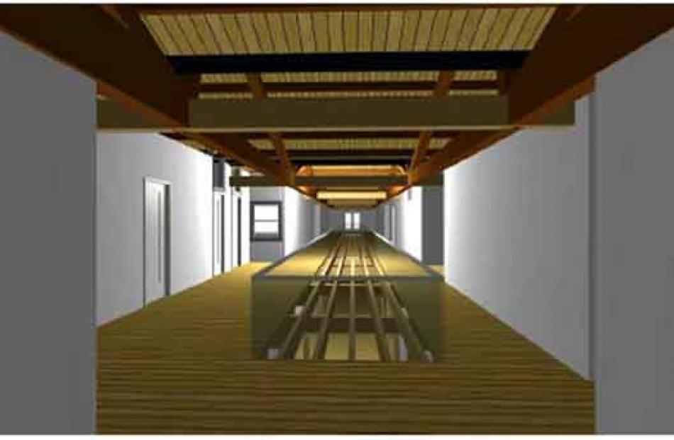 Upper level corridor area.