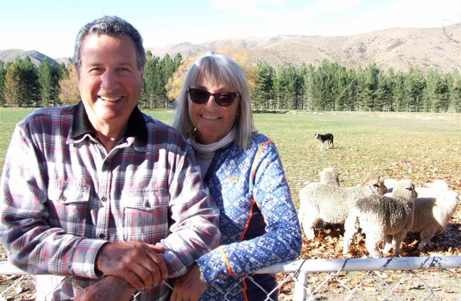 Merino apparel entrepreneurs Peter and Patty Duke, during a recent visit to Glenbrook Station,...