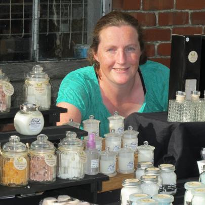 Jodi Gray, of Mosgiel, shows off her hand-crafted bath salts.