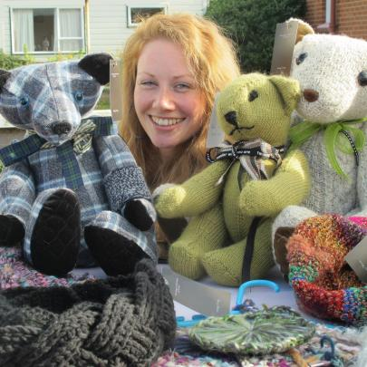 Mosgiel mum Joanna Bain's hand-crafted items included a tartan teddy bear.