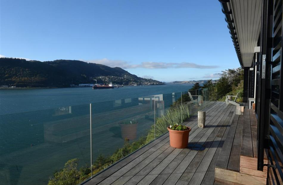 The front deck offers views to Taiaroa Head and there is almost always activity on the harbour.