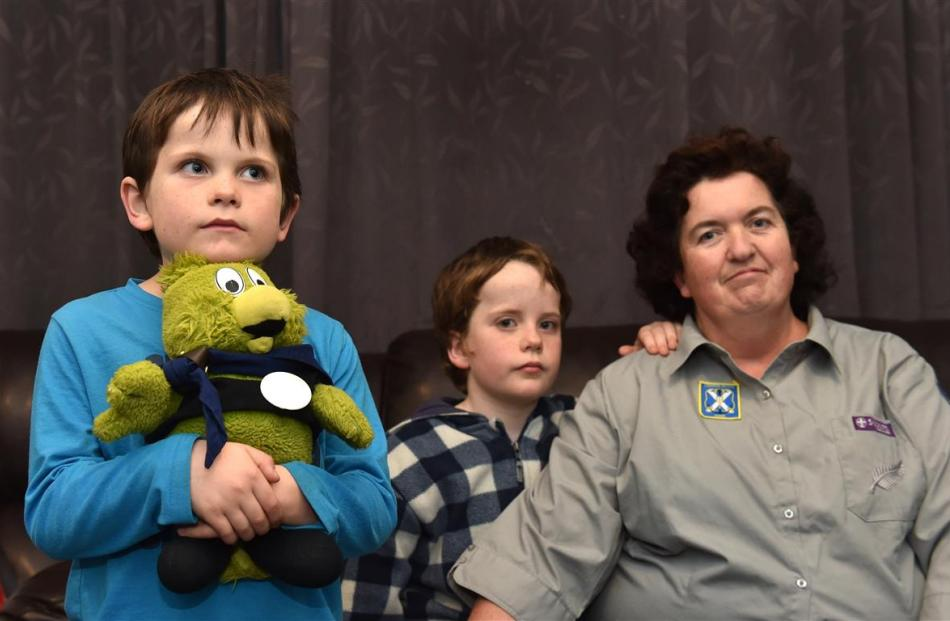 Support worker and mum Leah Sumner, with sons Heath (left, 7) and Reid (9), of Brockville, felt...