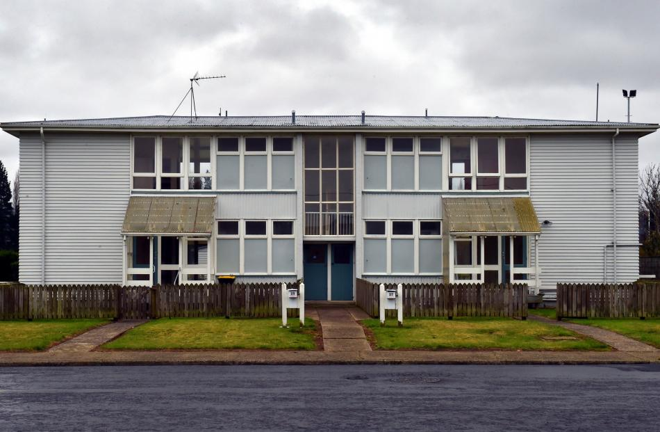 Empty state houses in Murray St, Mosgiel. Photo: Gregor Richardson