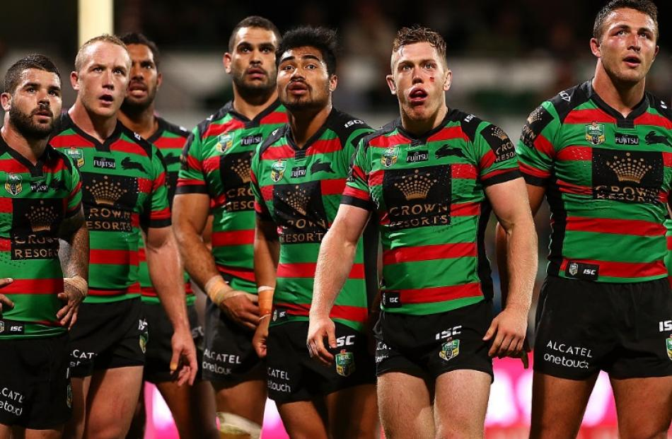 South Sydney Rabbitohs Players During Their Loss To The Titans Photo Getty Images