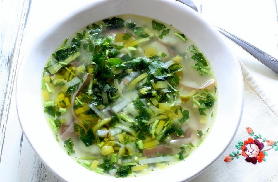 Potato and watercress soup. Photo by Simon Lambert.
