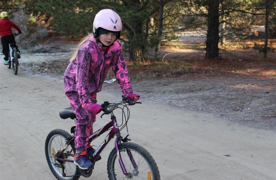 Billie Willson (10), of Tarras School.