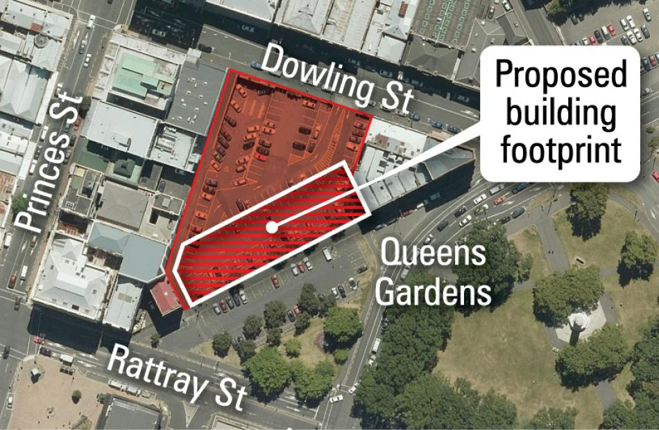 A graphic illustrating the proposed location of the ORC HQ.