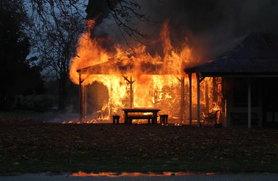 Fire destroys the Paradise homestead in May 2014. Photo supplied.