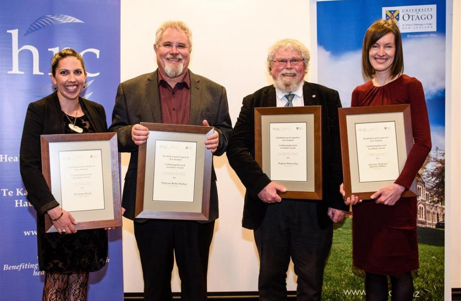 University of Otago researchers (from left to right) Dr Emma Wyeth, Prof Richie Poulton, Prof...