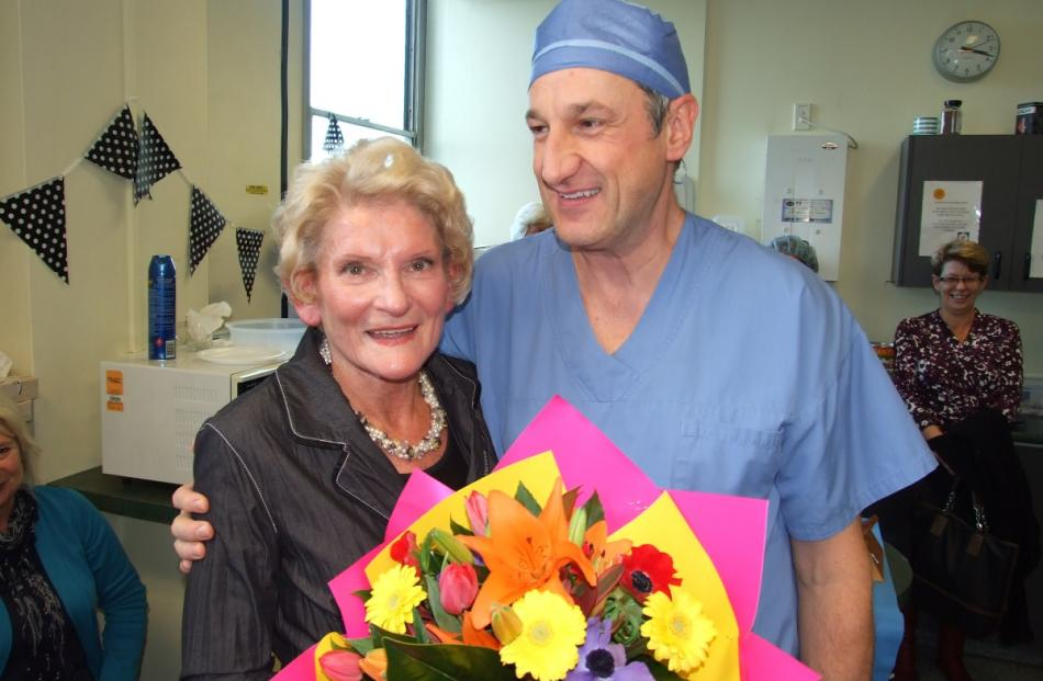 General surgeon Graeme Millar was one of many well-wishers who gathered for a special afternoon...