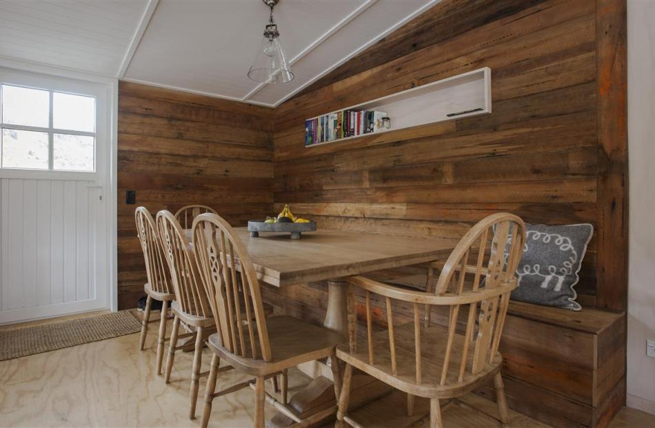 Much of the furniture consists of old family pieces that have been revamped. The once-dark dining...