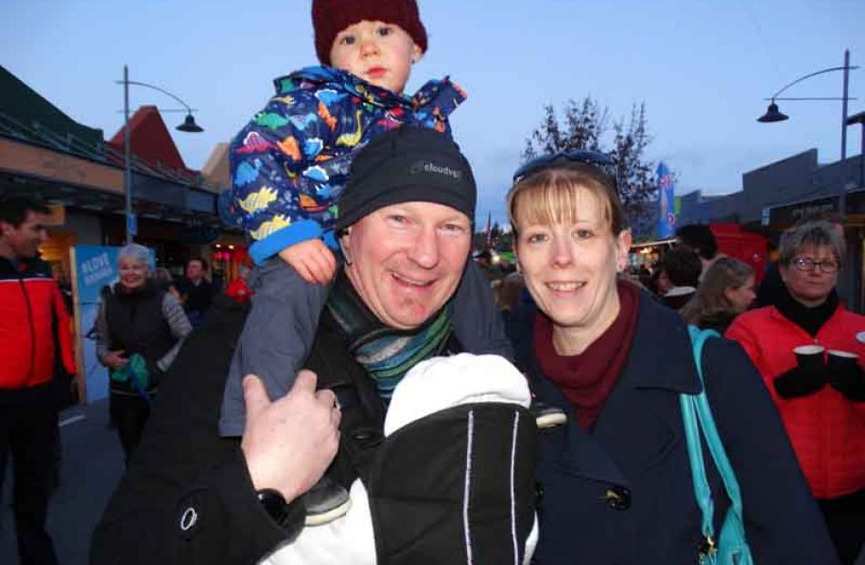 Archie Popperwell (3), Chris Popperwell, Molly Popperwell (3 months), and Sarah Willsher, all of...