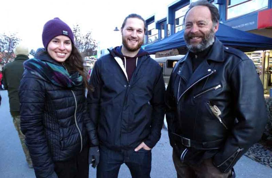 Genevieve Montreuil and Mikael Massicotte, both of Canada, and Glenn Sherson, of Wanaka.