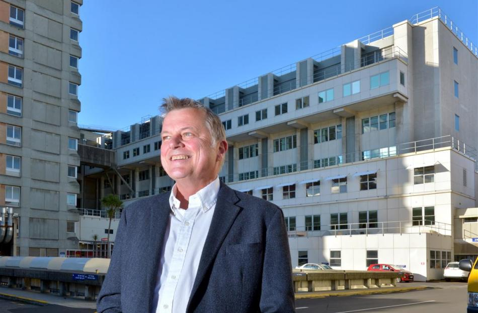 Southern Partnership Group chairman Andrew Blair on a visit to Dunedin Hospital yesterday. Photo...