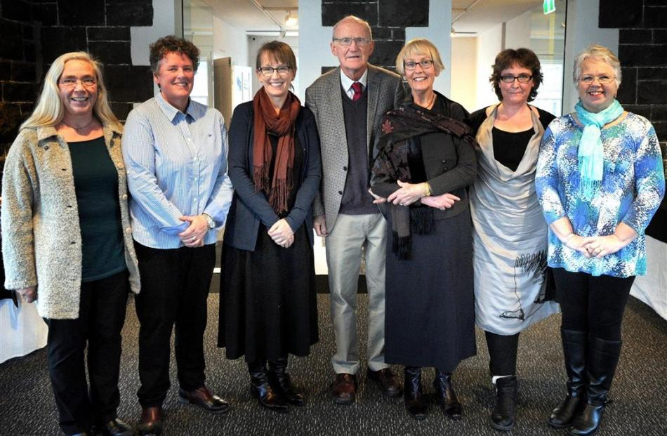Molteno staff (from left) Carol Henderson, Janine Hunter, daughter Nina Molteno, Emeritus Prof...