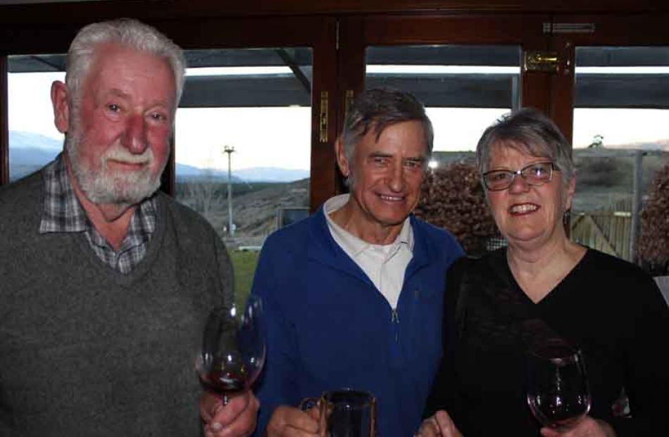 Crawford Brown, Richard Guthrey and Catherine Brown, all of Bannockburn.