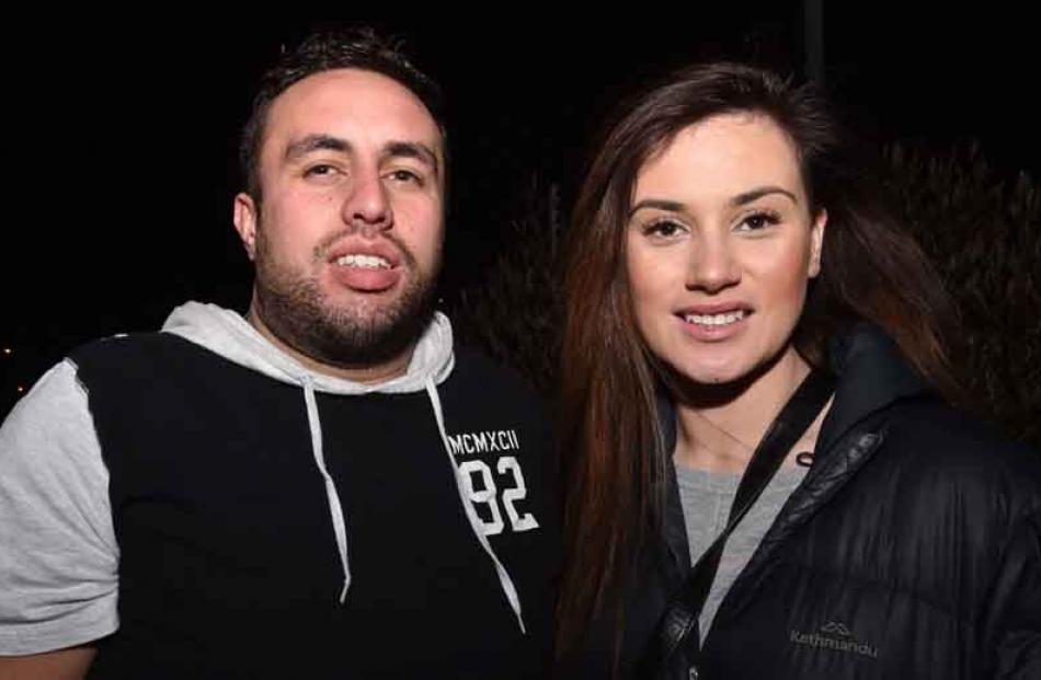 Brendan Williams and Imelete Caldwell, both of Dunedin.