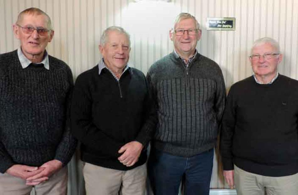 Dave Inkersell, Barrie Rae, Ian Isbister, and Ian Milmine, all of Oamaru.