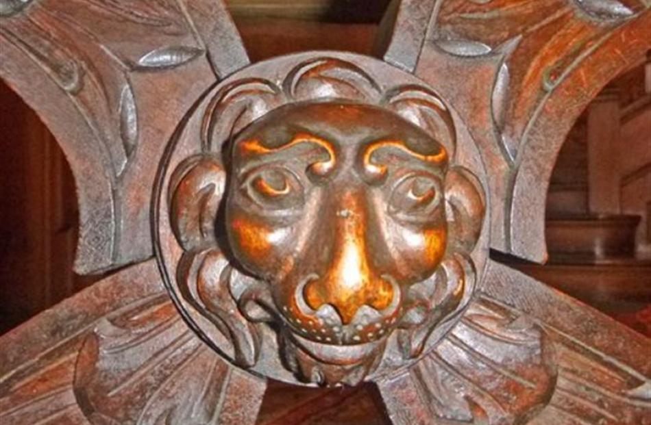 Elaborately carved details.