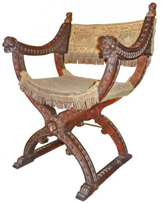 The ''Dantesca'' X-frame chair at Olveston Historic Home. Photos supplied.