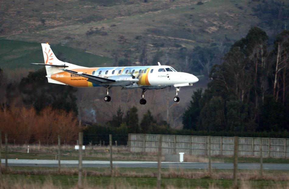 The last Kiwi Regional Airlines flight into Dunedin International Airport touches down yesterday...