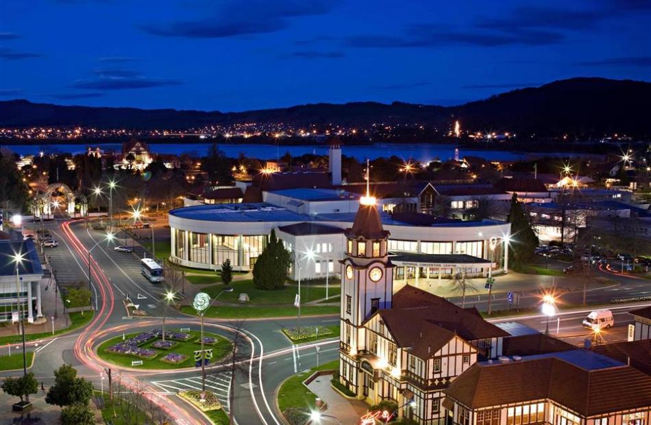 The night lights of Rotorua. PHOTO: SUPPLIED