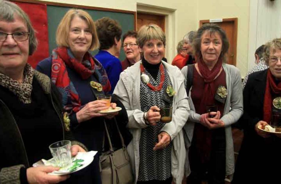 (From left) Margaret Ward, Diane Ralston, Bev Beattie, Kristina Mitchell, and Jeanette Erikson,...