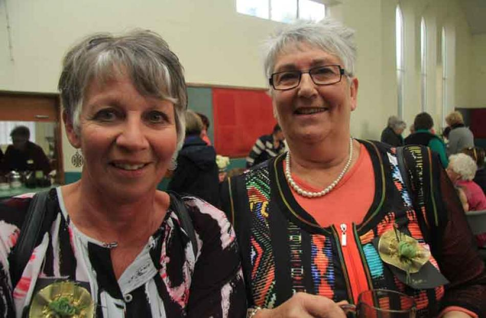 Bev Ross, of Waianakaru, and Joan Sutherland, of Hampden.
