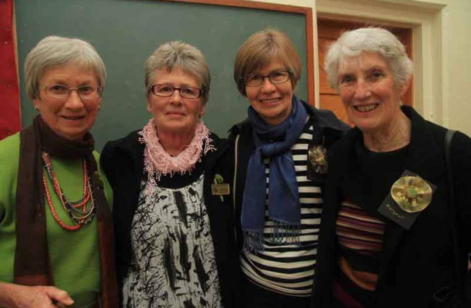Heather Harvey, left, Helen Wallace, Pauline Notman and Margaret Campbell, all of Oamaru.