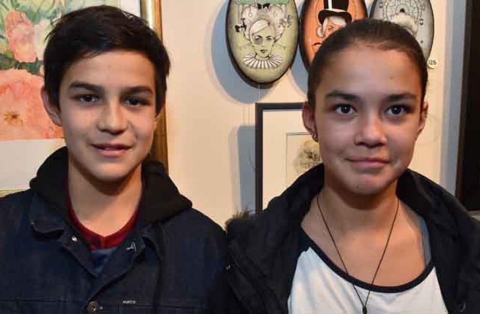 Reece (13) and Verity (11) (siblings) Healy, of Dunedin.