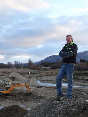 Graham Lee is preparing land along Cameron Creek, Wanaka, for a new $4million facility where the...