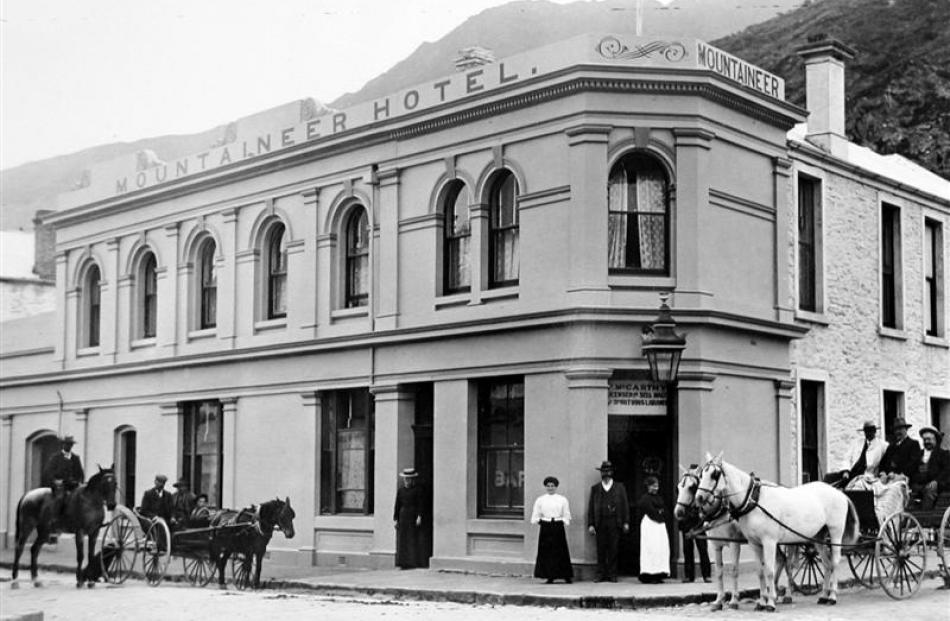 The Mountaineer Hotel in Queenstown, which Rebecca Bond ran from 1885 until 1893. The photo shows...