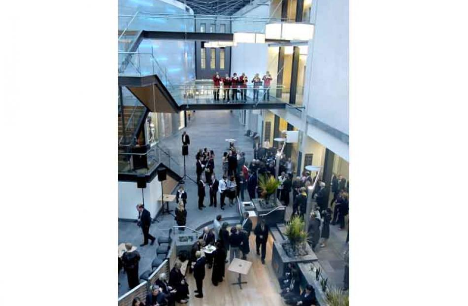 Opening ceremony in the main atrium. Photo by Jane Dawber.