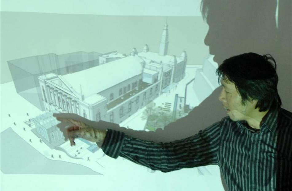 Eqo Leung, of Opus Architecture, hopes the cube will restore the significance of the Town Hall....