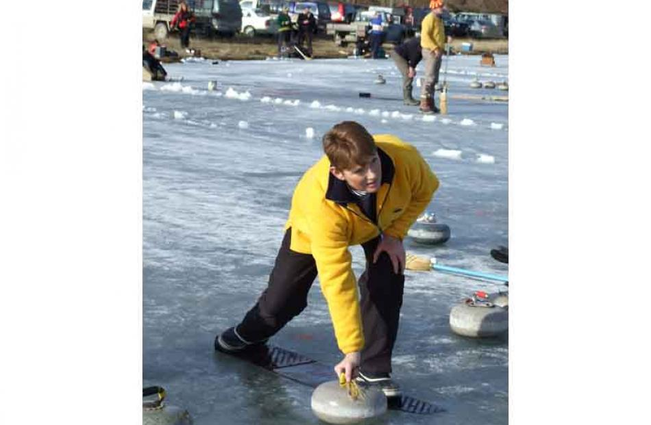 Cambrian curler Sue Ingram eyes up the options.