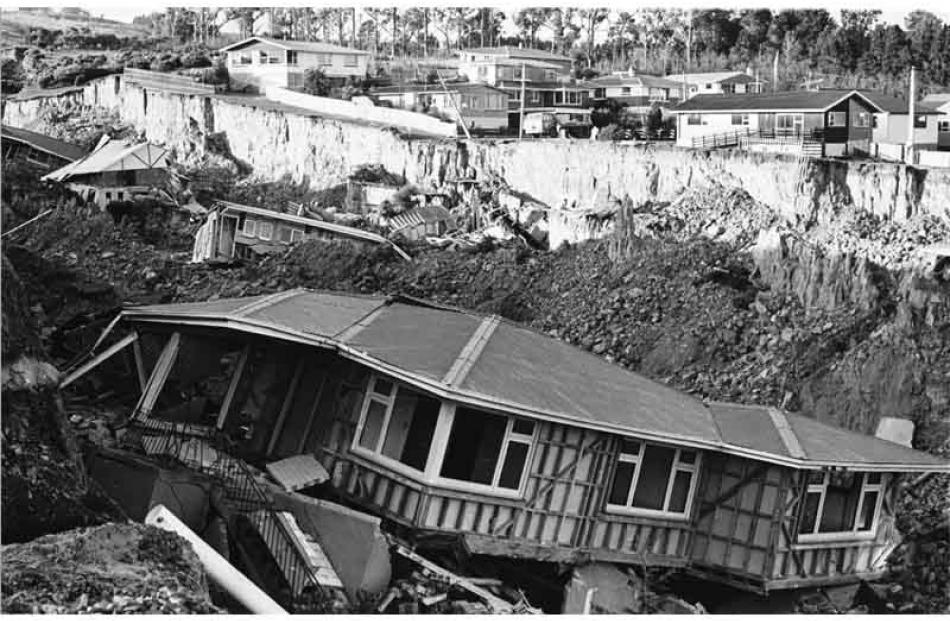 Some of the destroyed houses.