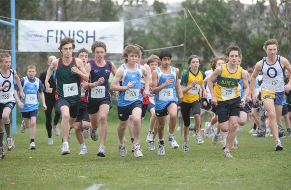 In the boys and mixed race are: Jack Hunter (Otago Boys), David Whyte (Kings), Ben Jowsey ...