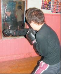 Shadow boxing: Javan Tuhakaroa (14) refines his technique.