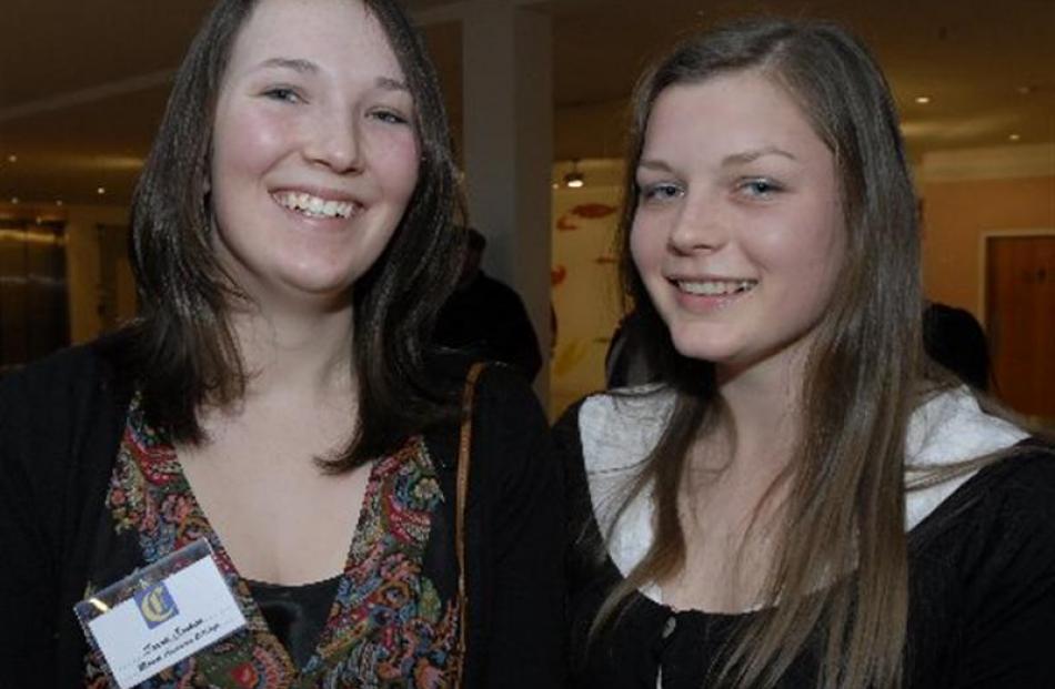 Mount Aspiring College pupils and Class Act Award recipients (from left) Sarah Cashen and...